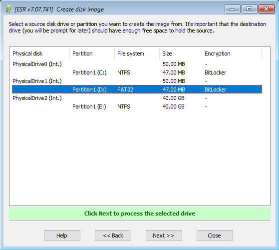 Elcomsoft System Recovery: creating disk image